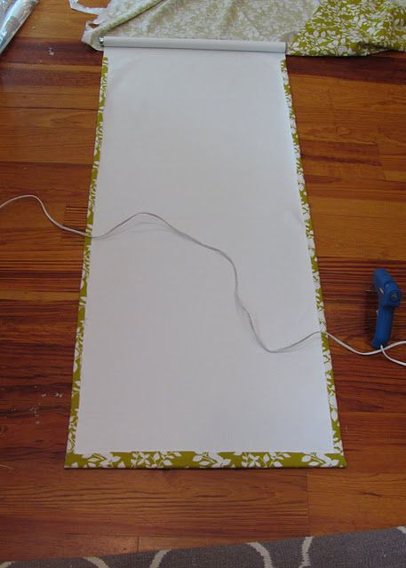 Glue fabric to Wall-Mart roller blind!