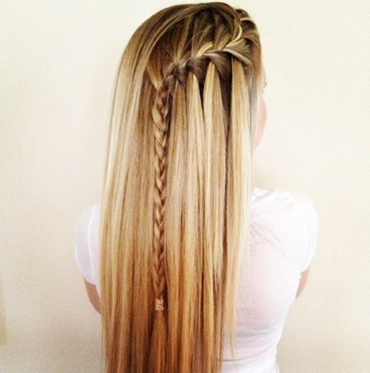 side-waterfall braid #hair