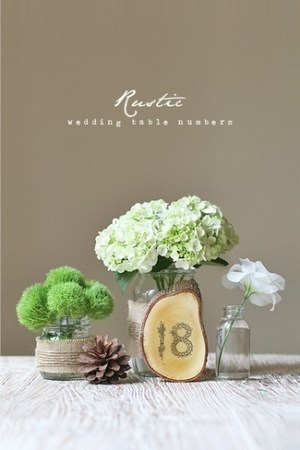 DIY Wedding Table Number Ideas