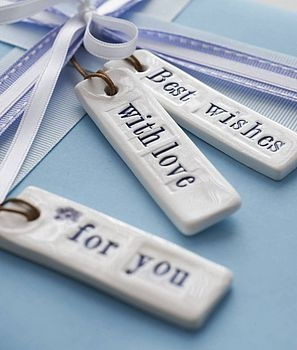 Ceramic gift tags Ideas