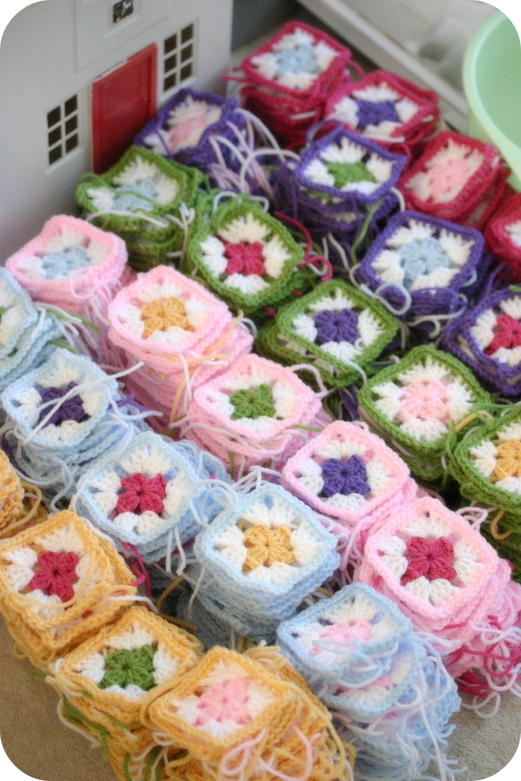 432 squares crochet