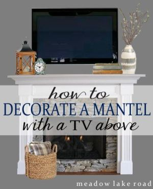 Tips for decorating a mantel with a TV above it.?