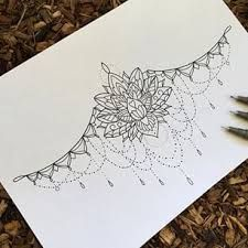 under boob sternum tattoo designs