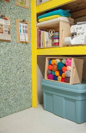 Floor Tile as a Wall Covering - 49 Brilliant Garage Organization Tips, Ideas and DIY Projects