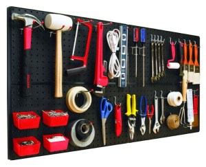 Create a Complete Pegboard System - 49 Brilliant Garage Organization Tips, Ideas and DIY Projects