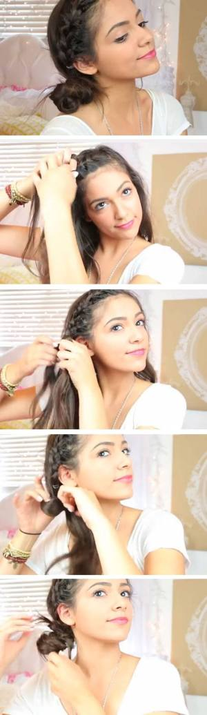 Easy DIY Hairstyles for The Beach   French Braided Side Bun