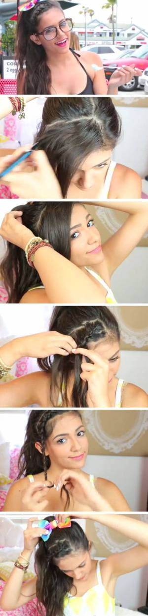 Easy DIY Hairstyles for The Beach   Girly Braided Updo