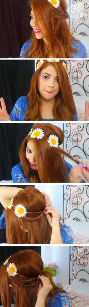 Easy DIY Hairstyles for The Beach   Groovy Flower Crown