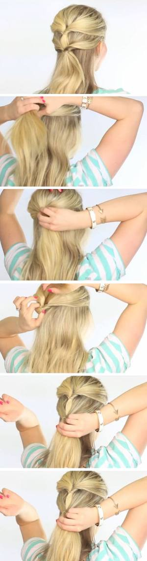 Easy DIY Hairstyles for The Beach   Topsytail Style