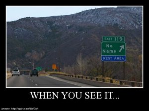when seeing it