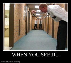 when you spot it