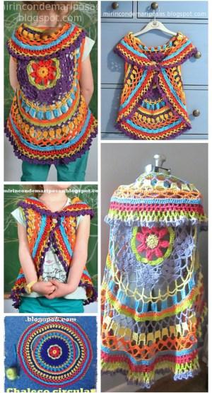 stylish crochet circle shrug
