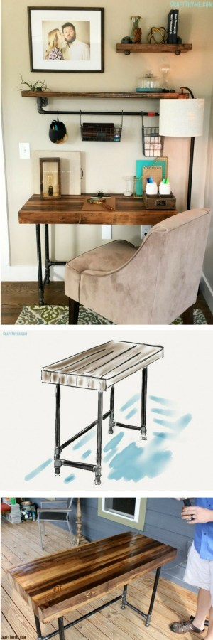 Check out the tutorial how to build a DIY industrial wooden desk