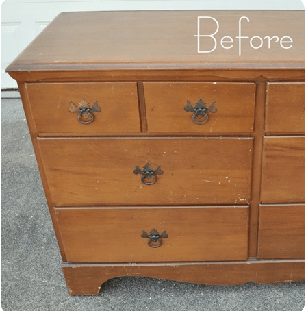 How to paint old furniture.