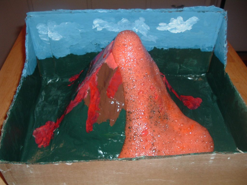 Make An Erupting Volcano Project