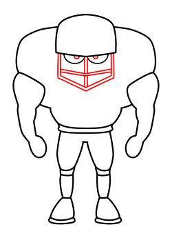 Football Player Drawing Easy : football, player, drawing, Drawing, Cartoon, Football, Player
