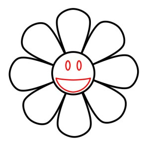 sunflower cartoon outline drawing simple draw cartoons clipart funny cliparts clipartpanda clipartmag step