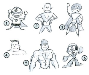 draw cartoon characters easy drawing superheros step funny character person cartoons cool cliparts drawings superheroes comics drew library clipart paintingvalley