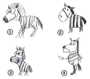 zebra cartoon draw drawing step drawings simple zebras horse easy funny cartoons horses paintingvalley library clipart