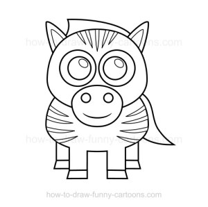 zebra draw easy sketch simple drawing cartoon something funny fill end grey sketches paintingvalley effective really cartoons