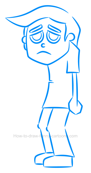How To Draw A Sad Face : Cartoon, Character