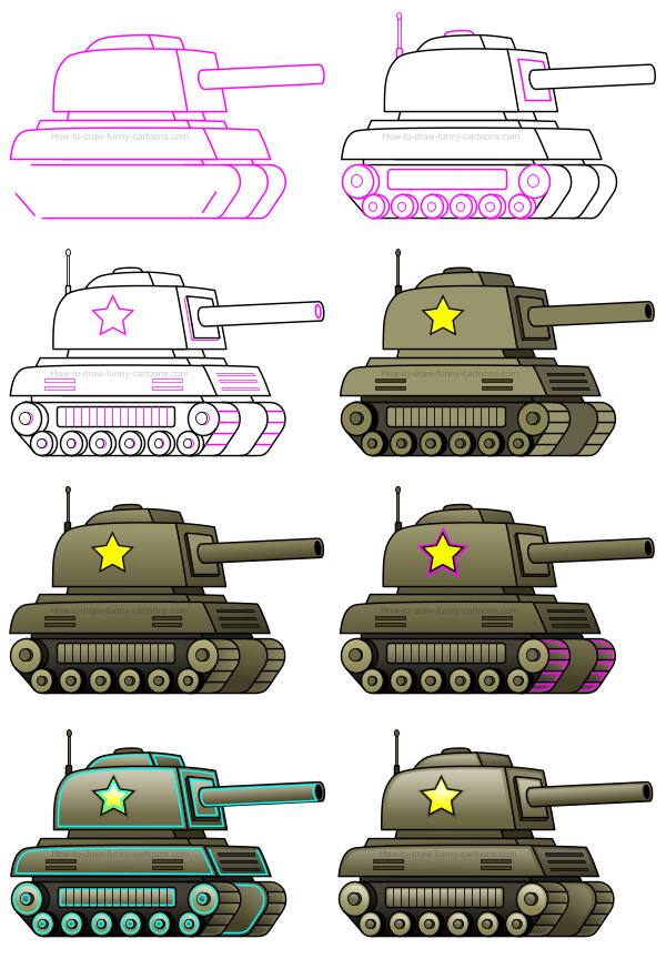 How to Draw a Tank for Beginners   Drawingforall.net
