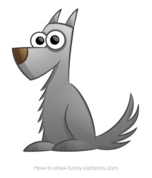 wolf cartoon drawing draw drawings cartoons funny dog cute grey learn mascot character cliparts easy sketching vector characters illustration sketches