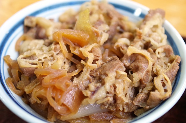 Gyudon (Beef & Rice bowl), Fully Cooked, Ready to Eat