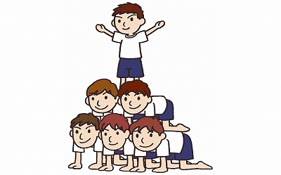 Human pyramid on sports day.  Is it necessary for education?