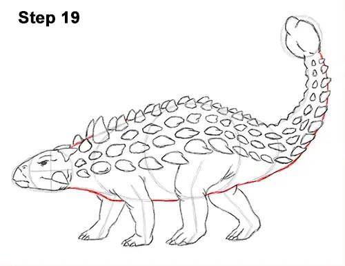 How to Draw an Ankylosaurus