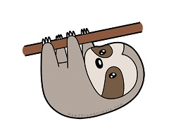 How To Draw A Sloth Cartoon Video Step By Step Pictures