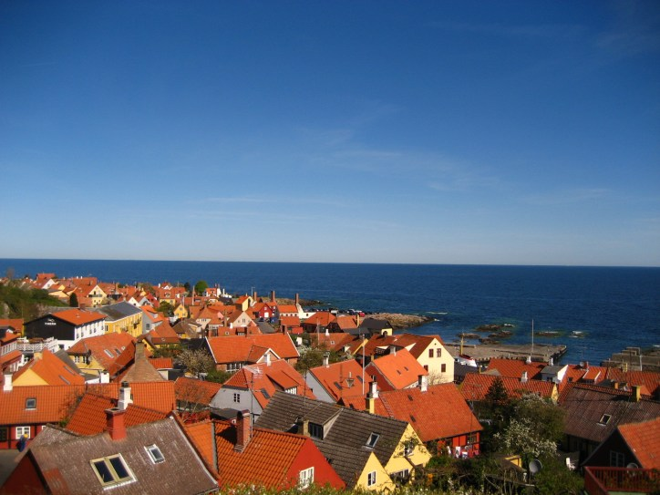 The fishing port of Gudhjem is known for the picturesque panorama of the town.