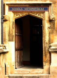 A door to the Bodleian Library in the Old Schools Quadrangle, Oxford.