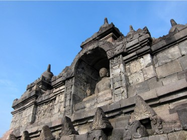 Each of the 504 Buddha statues in Borobudur is in one of 6 mudras or hand gestures.