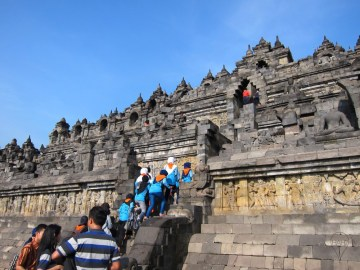 Borobudur remains popular as a tourist attraction and pilgrimage site.
