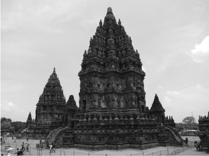 Prambanan is the largest Hindu temple in Java and its Shiva temple is 47m high.