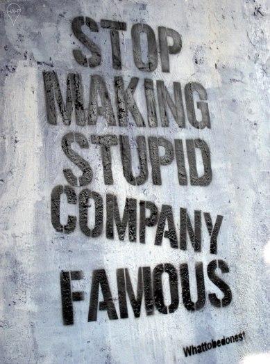 Street signs make a statement.