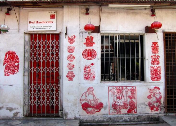 Red stencils