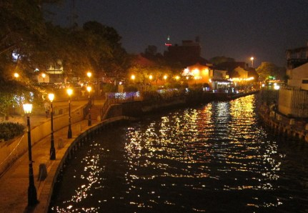 Melaka River by night
