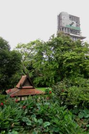 The lawn and pavilion