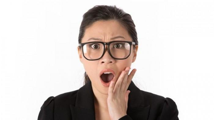 shocked asian woman