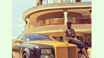Adebayor in his mansion