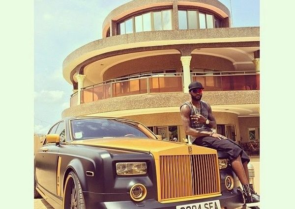 Adebayor in his mansion