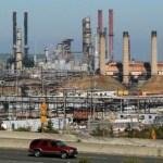 Chevron oil refinery in Cape Town
