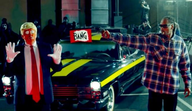 Snoop Dogg shoots 'Donald Trump'