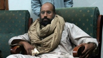 Muammar Gaddafi's son, Saif al Islam