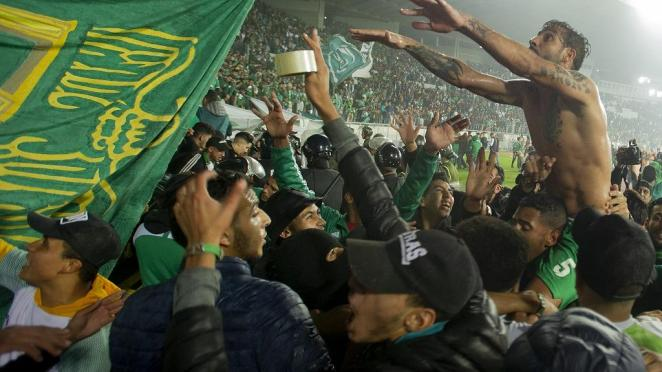 Moroccan football fans