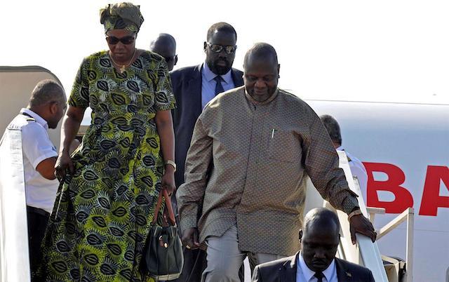 Riek Machar and his wife Angelina Teny