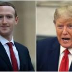 Mark Zuckerberg and Donald Trump