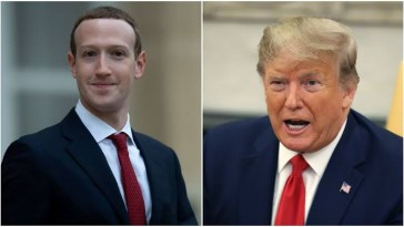 Mark Zuckerberg and Donald Trump